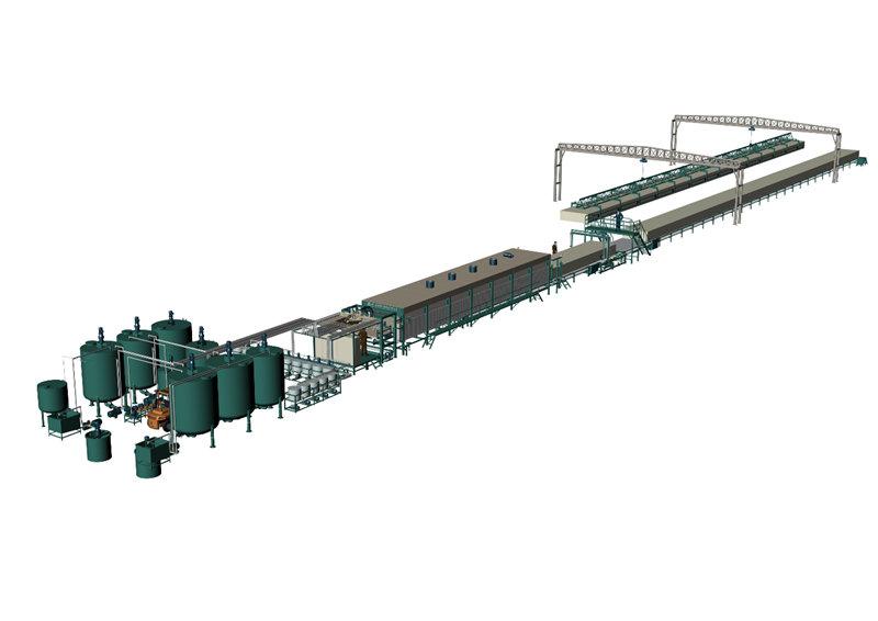 DMJX-2400 水平自动连续发泡生产线
